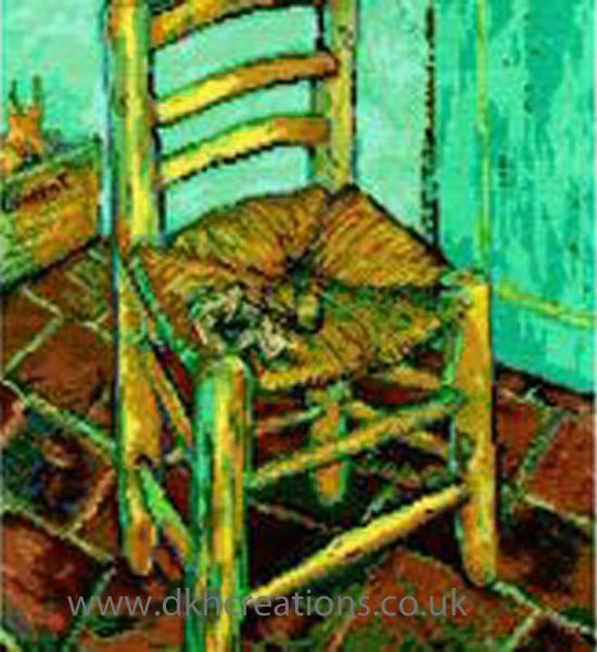 Van Goghs Chair Cross Stitch Kit